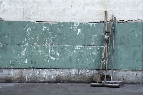 Concrete wall and brushes_RenoQuotes.com