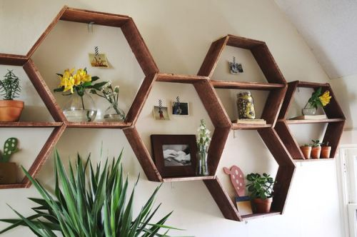 Honeyxomb wood shelves_RenoQuotes.com