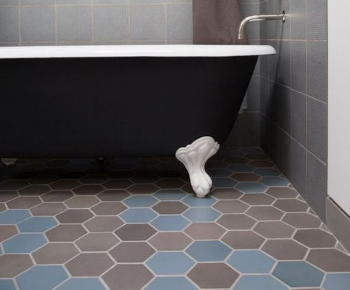 Bathroom ceramic floor